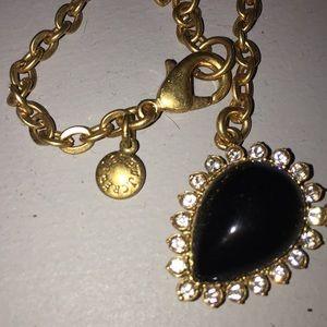 J. Crew Jewelry - Pretty black stone and crystal necklace